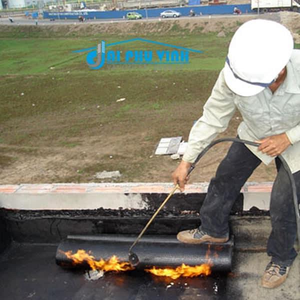 Thi công màn khò nóng chống thấm - Đại Phú Vinh
