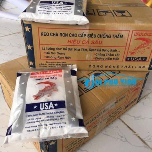 Keo dán gạch – keo chà ron hiệu Crocodile hay còn gọi là keo dán gạch hiệu – keo chà ron hiệu cá sấu là một thương hiệu keo dán gạch – keo chà ron công nghệ Thái Lan
