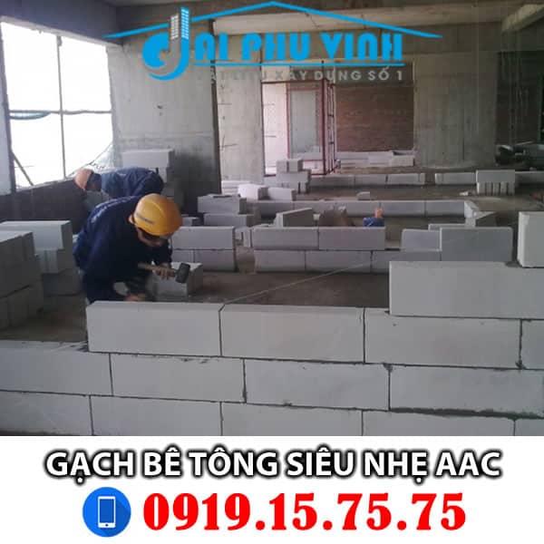 Gạch siêu nhẹ - Gạch bê tông siêu nhẹ AAC - Liên hệ mua hàng 0919157575