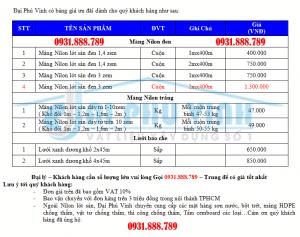 Báo giá nilon lót sàn mới nhất TPHCM và KV phía nam. Lh 0931888789
