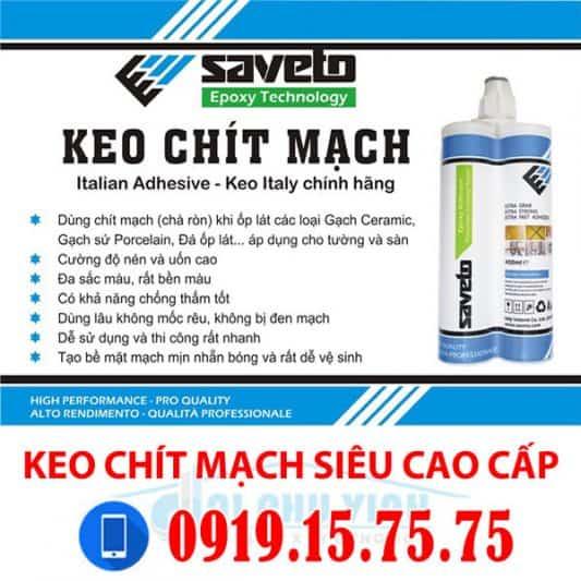 Keo chít mạch Saveto – Keo chít mạch cao cấp nhập khẩu Italia. Lh 0931.888.789