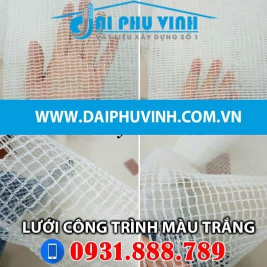 Lưới bao che xây dựng màu trắng – Lưới bao che công trình màu trắng. LH 0931888789