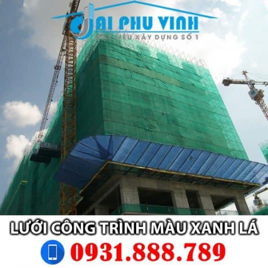 Lưới bao che xây dựng màu xanh lá đậm – Lưới bao che công trình xanh lá LH 0931.888.789