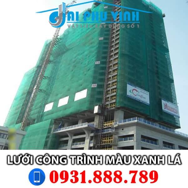 Lưới bao che xây dựng màu xanh lá đậm - Lưới bao che công trình xanh lá LH 0931.888.789