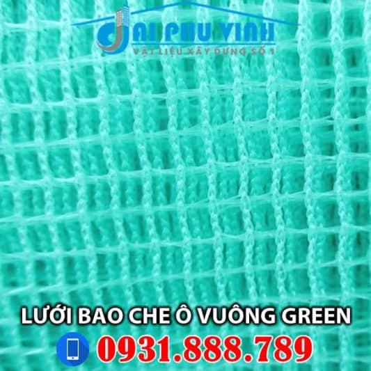 Lưới bao che xây dựng ô vuông Green – màu xanh lá. Lh 0931888789