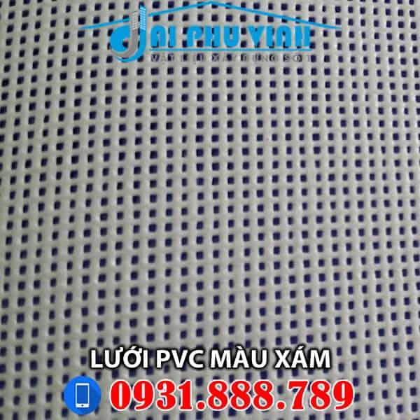 Lưới PVC màu xám cho công trình. Lh đặt hàng lưới PVC màu xám 0931888789