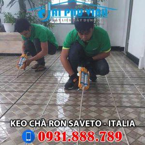 Hình ảnh thực tế thi công keo chà ron Saveto - Lh 0931888789