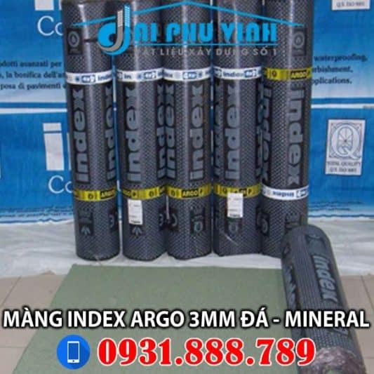 Màng chống thấm khò nóng Index Argo 3mm Đá – Mineral. Lh đặt hàng – thi công 0931888789