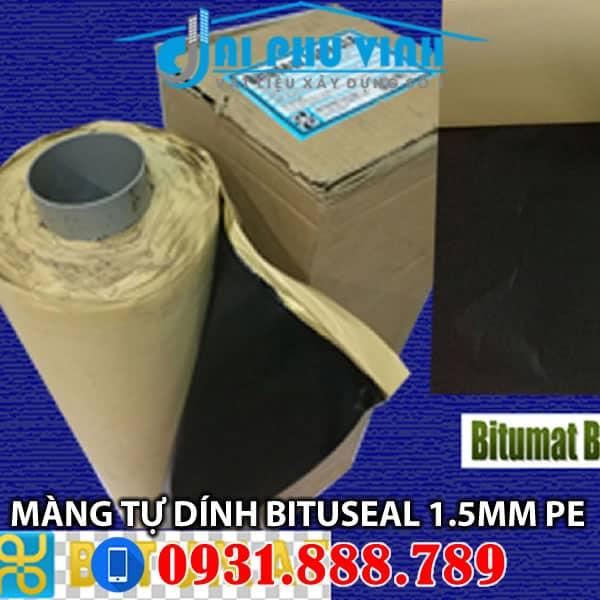 Màng chống thấm tự dính Bituseal 1.5mm mặt trơn (PE) nhập Ý. Lh 0931888789