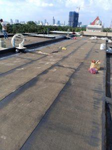 Chống thấm sân thượng bằng màng Bitum đường Lý Man Phục quận 7