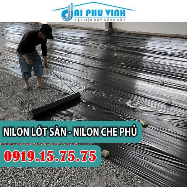 Bảng báo giá nilon lót sàn màu đen - màng PE màu đen. LH đặt hàng 0919157575